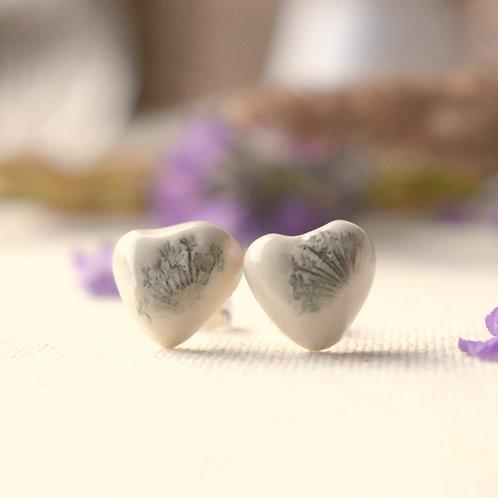 Scottish Wish Heart Earrings