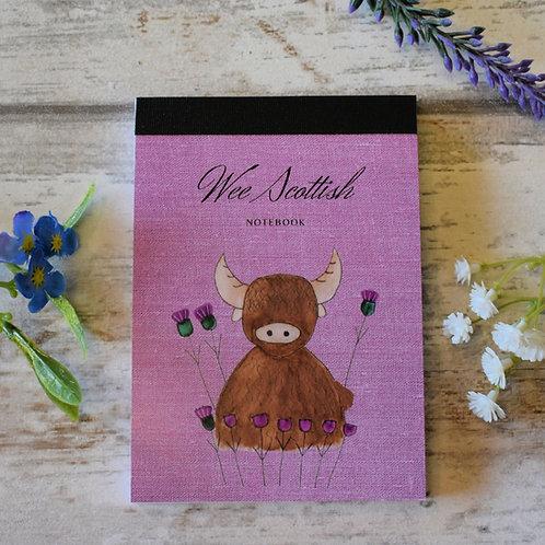 Mini Scottish Notebook Highland Cow