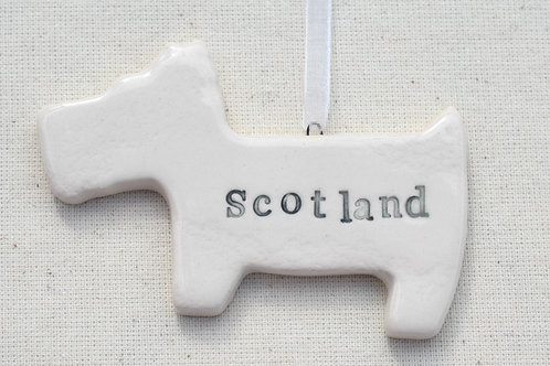 Ceramic Scotland Westie Dog