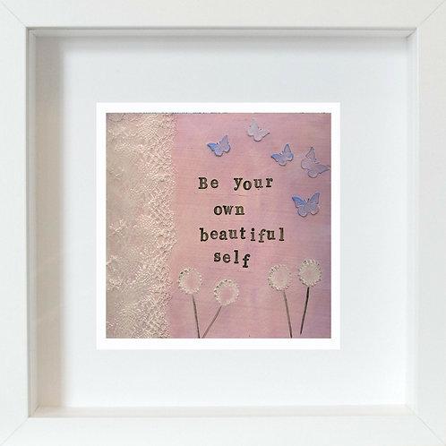 Beautiful Self Framed Mixed Media Art Print