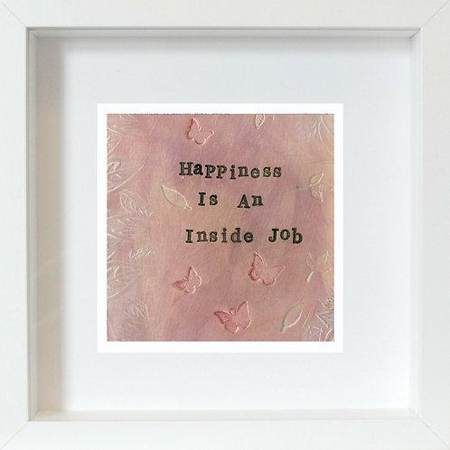 Happiness Framed Mixed Media Art Print