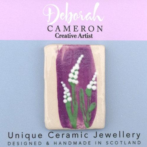 Purple Foxglove Brooch