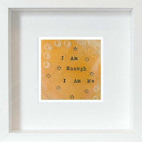 I Am Me Framed Mixed Media Art Print