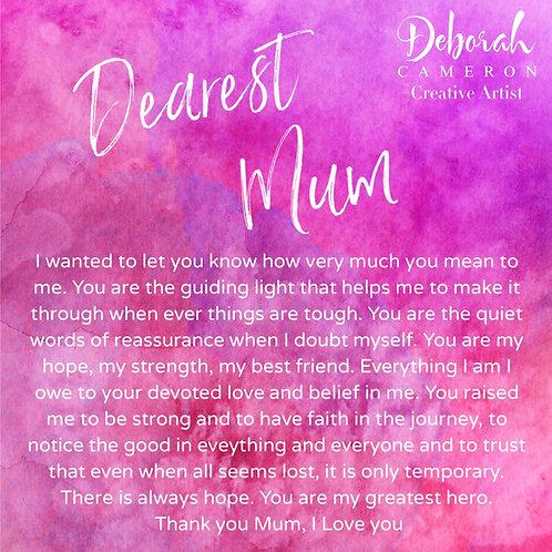 Dearest Mum Coaster