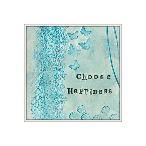 Choose Happiness Mixed Media Art Print