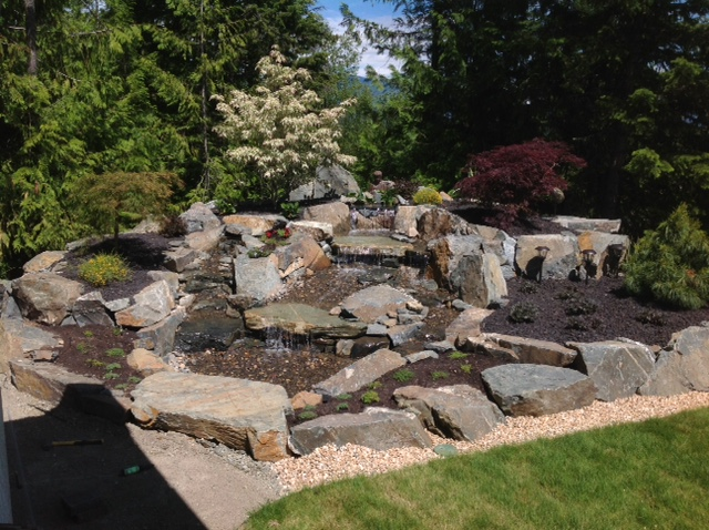 Pond-less water feature