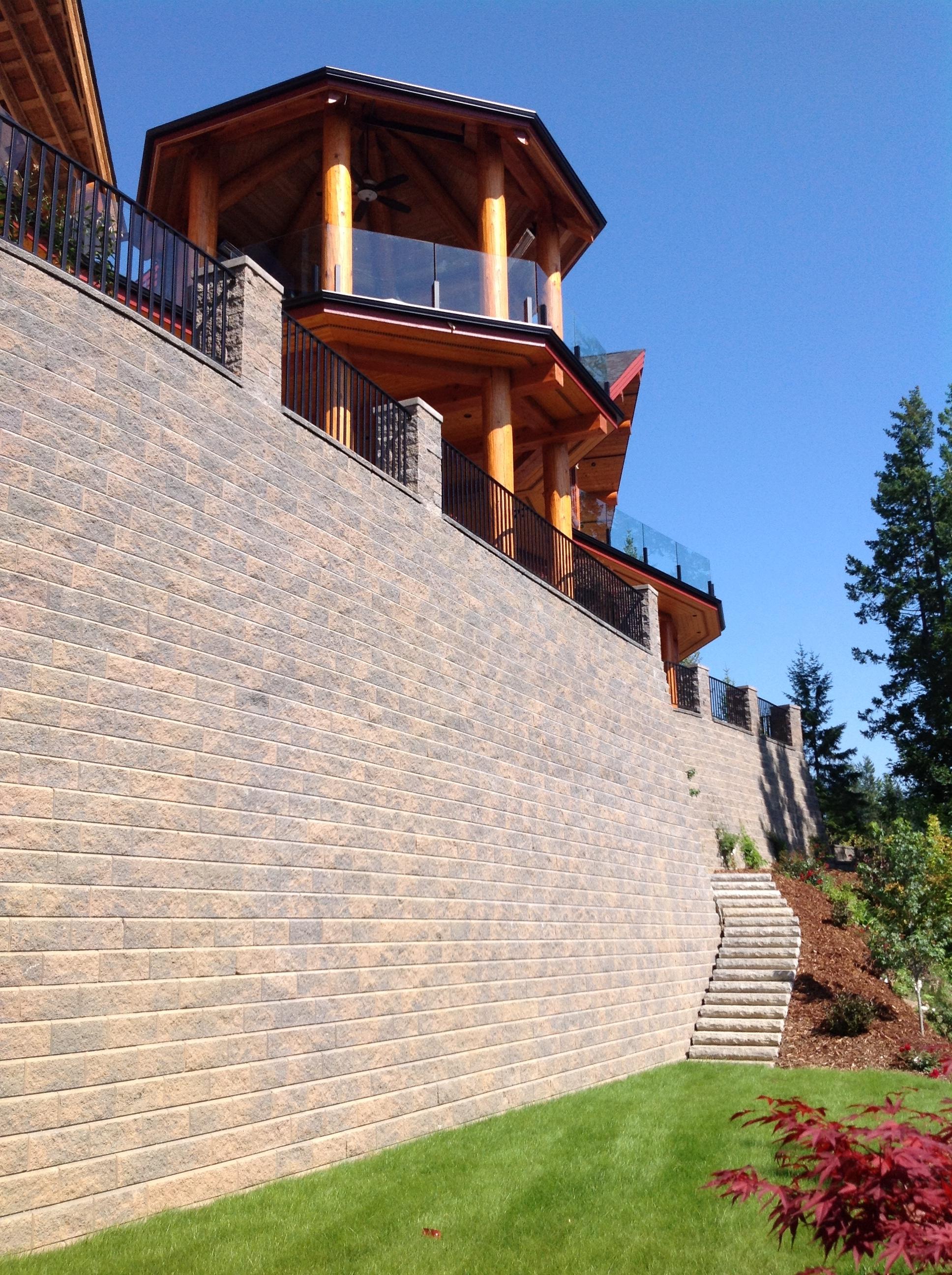 Engineered Allan Block wall