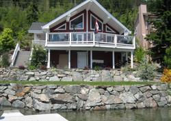 waterfront rock wall