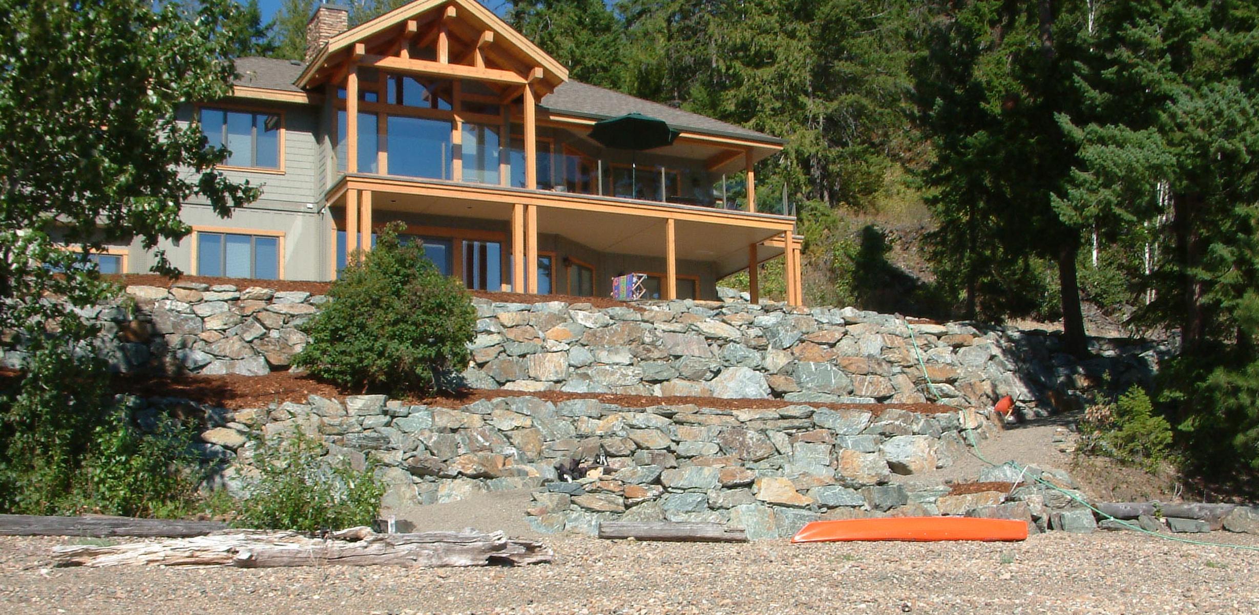 Lewis Rock retaining walls