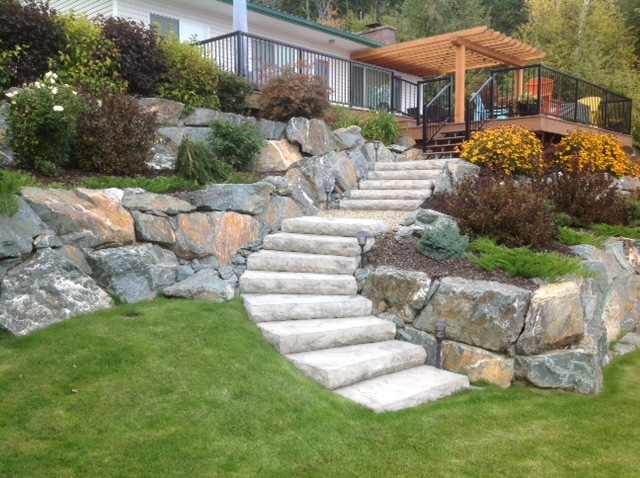 Rock with stairs