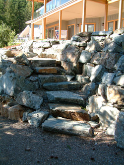 Natural Rock stairs