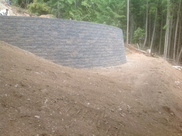 Curved Allan Block wall