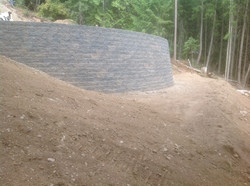 Curved Allan Block wall