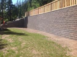 Allan Block wall below the highway