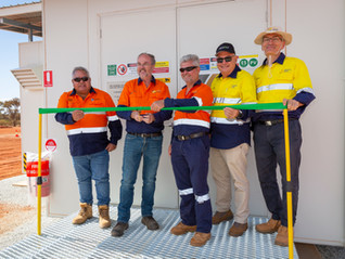 Minister Officially Opens TESVOLT Battery Storage Hub Renewable Energy Solution for Remote Mine Camp