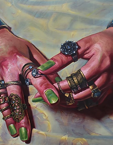 'The Vow' oil on canvas. 24x 36in. 2018