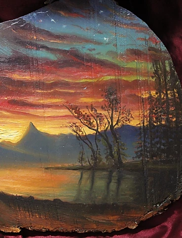 Twilight reflection. oil on wood