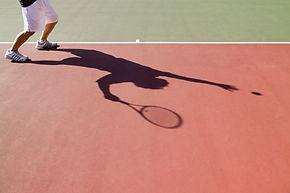 Person playing tennis in Potlatch, Idaho