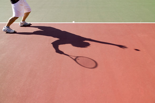 Tennis Serve, Shadow, Shoes
