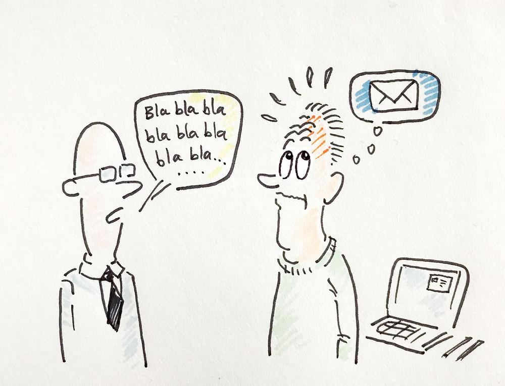 e-post på hjernen