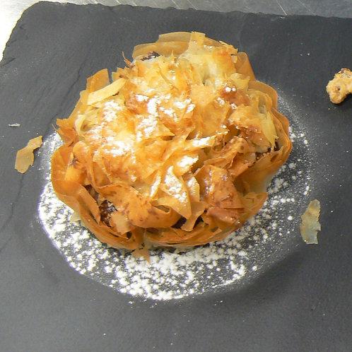 Croustade pomme poire à l'Armagnac