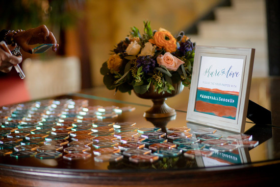 Abney Wedding Acrylic Escort Tile Display