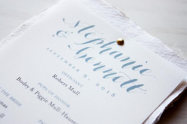 Programs with Custom Wedding Logo