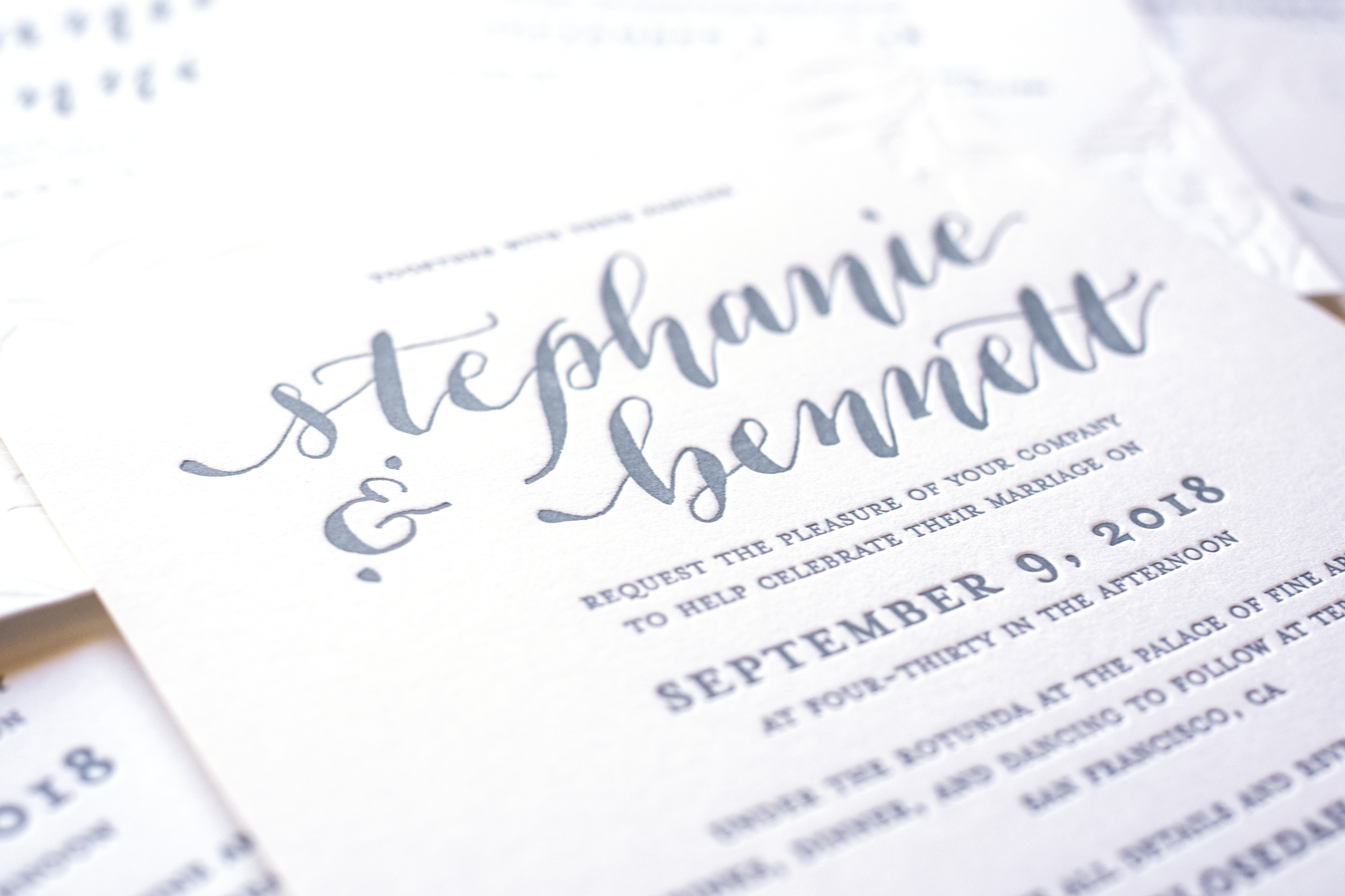 Custom Calligraphy Letterpress