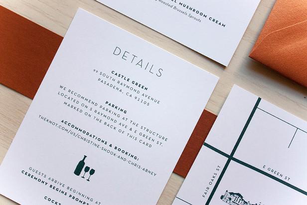 Abney Wedding Invite Cards
