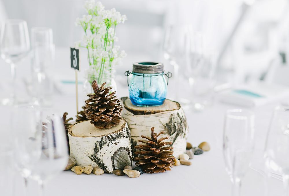 Mountain Wedding Centerpieces