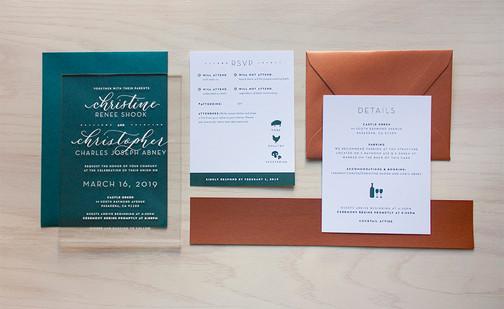 Abney Wedding Invitation Suite