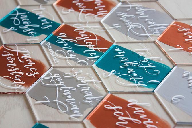 Abney Wedding Acrylic Escort Tiles
