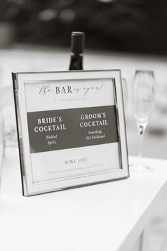 Caldwell Wedding Bar Sign