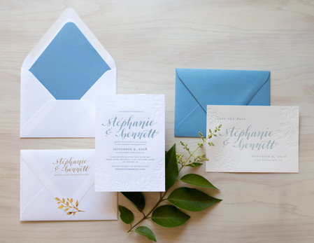 Letterpress Invitations and Save the Dates