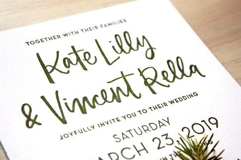 Rella Wedding Letterpress Invitation