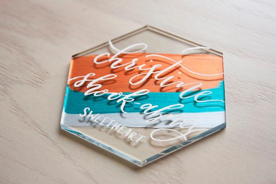 Abney Wedding Acrylic Escort Tile