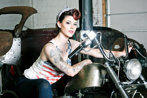 Motorcycle Pin Up
