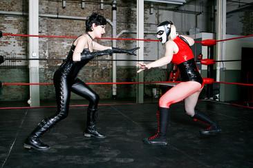 Harley Quinn & Catwoman Wrestling Match