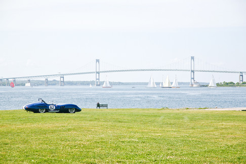 Car infront of Newport Bridge
