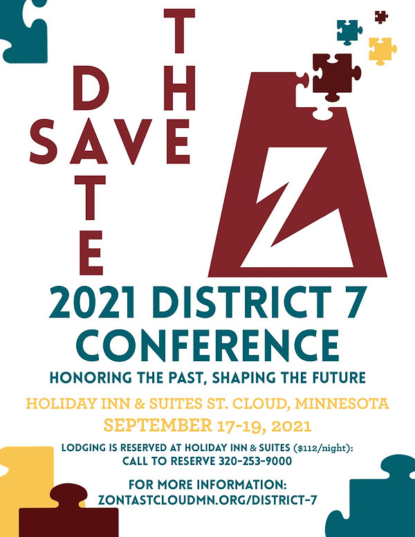 Zonta District 7 Conference Save the Dat