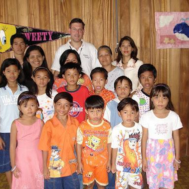 With the children of our first orphanage in Manado, Indonesia about 2001.