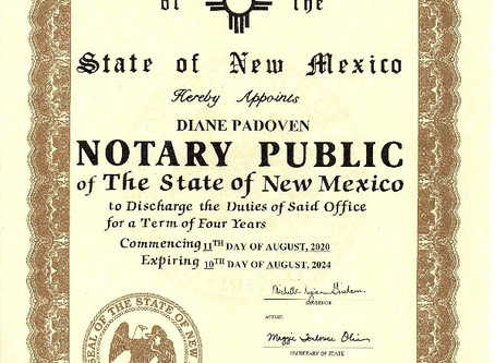 I am now a Notary Public of the State of New Mexico