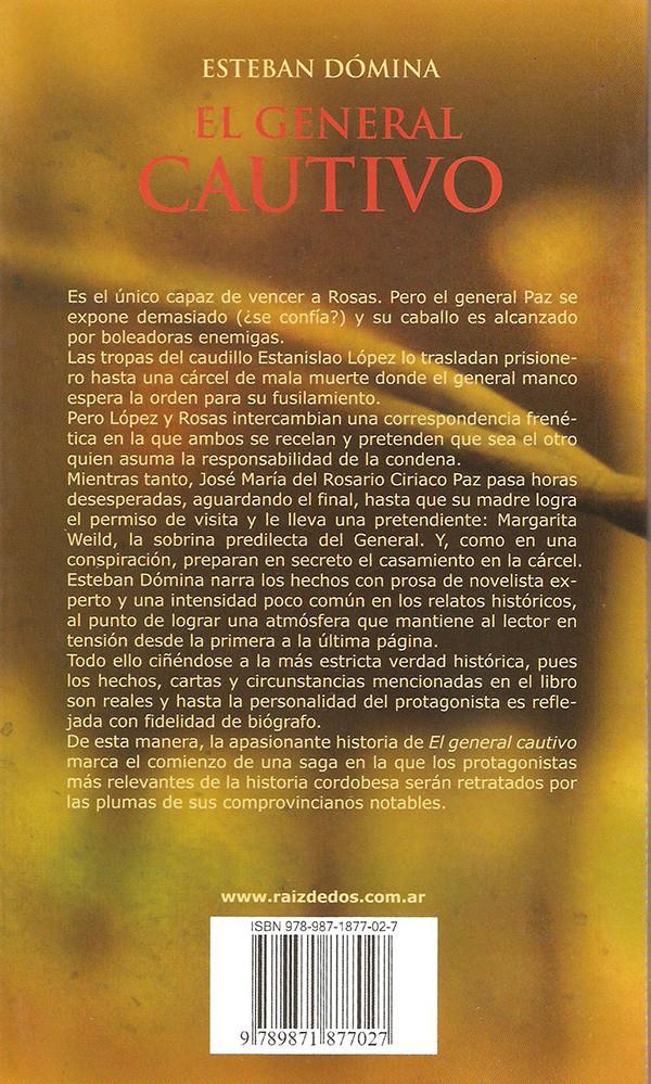 Contratapa - El General Cautivo.jpg