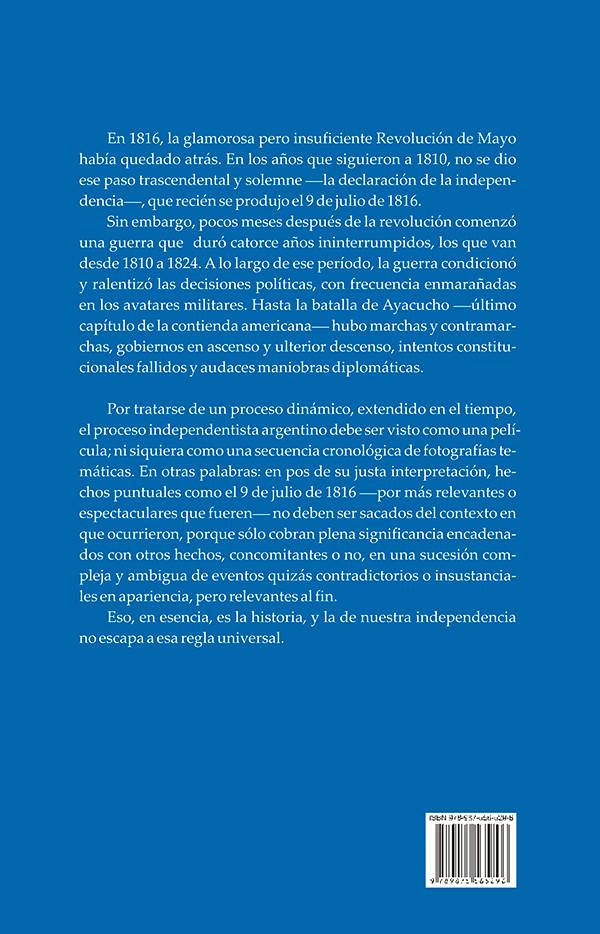 Contratapa - La independencia argentina.