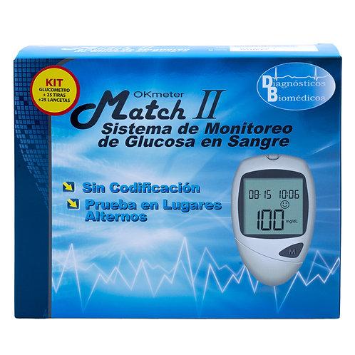 Sistema de monitoreo de glucosa en sangre Okmeter Match II