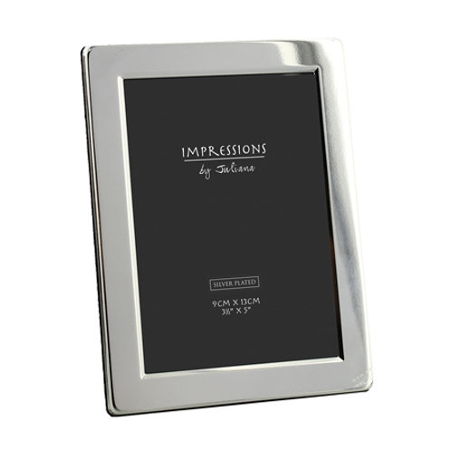 Elegant Silver Plated Photo Frame - 3.5 x 5""
