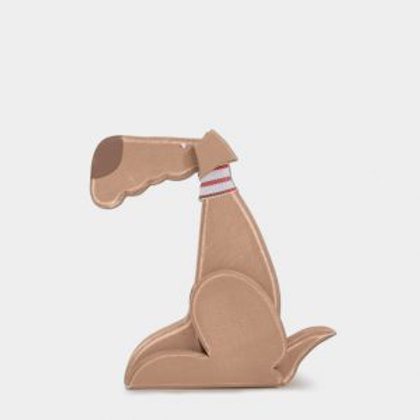 Small Wooden Standing Charlie Dog