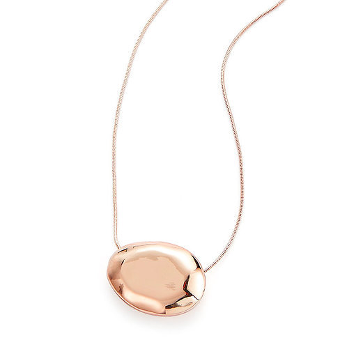 Rose Gold Broad Bean Necklace