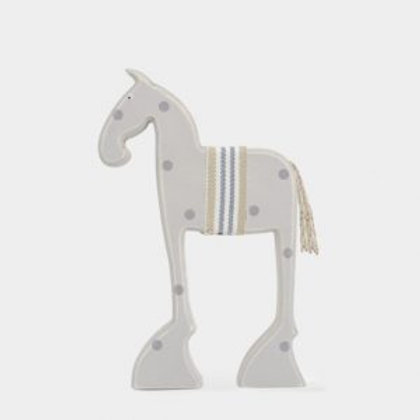 Wooden Standing Bessie Horse Decoration