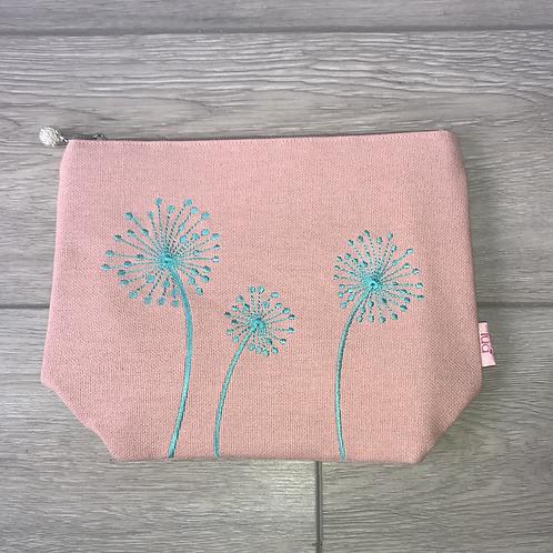 Blush Pink Dandelion Make-Up Bag